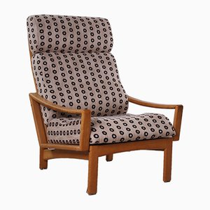 Danish Oak Hollow Back Model Vario Easy Chair by Grete Jalk for Glostrup, 1960s