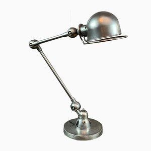 Industrial French 2 Arm Table Lamp by Jean-Louis Domecq for Jieldé, 1959