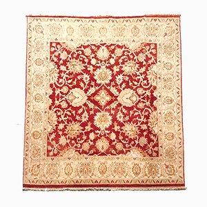 Indischer Vintage Teppich in Rot & Beige, 1970er