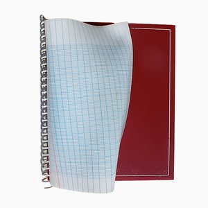 Lámpara de pared postmoderna en forma de cuaderno, años 80