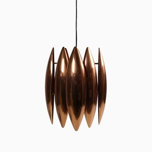 Copper Kastor Ceiling Lamp by Johannes Hammerborg for Fog & Mørup, 1960s