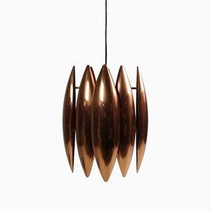 Copper Kastor Ceiling Lamp by Johannes Hammerborg for Fog & Mørup, 1960s