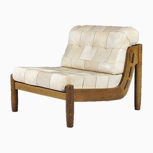 Juego de sofás modulares de retales de cuero, años 70