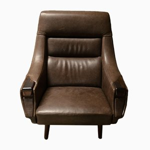 Vintage Rosewood Armchair by Henry Walter Klein
