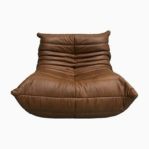 Vintage Togo Leather Sofa by Michel Ducaroy for Ligne Roset