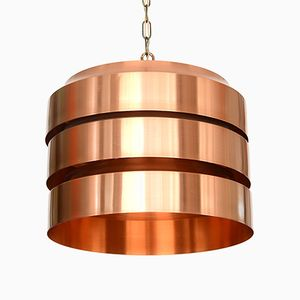 Swedish Copper Pendant Light, 1960s