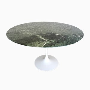 French Green Marble Tulip Table by Eero Saarinen for Knoll, 1980s