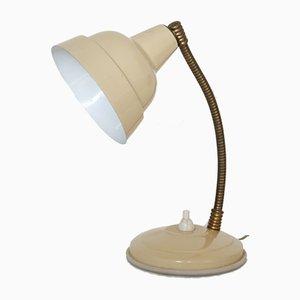Lámpara de mesita de noche beige, años 60