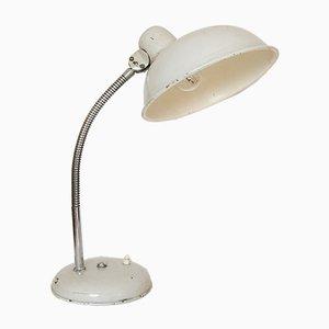 Lámpara de mesa cuello de ganso industrial vintage, años 50