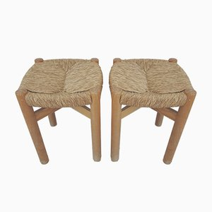 Meribel Stools by Charlotte Perriand for Steph Simon, 1960s, Set of 2