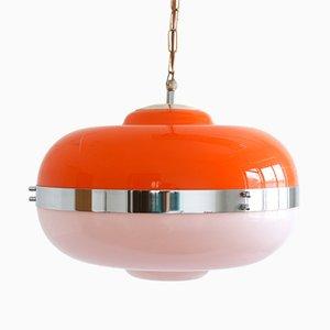 Lámpara colgante UFO era espacial vintage de Guzzini / Meblo