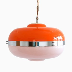 Vintage Space Age UFO Pendant Lamp from Guzzini / Meblo
