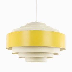 Lámpara colgante Ultra en amarillo de Jo Hammerborg para Fog & Mørup, años 70