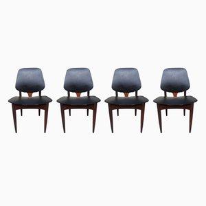 Chaises de Salon Mid-Century de Elliots of Newbury, Set de 4