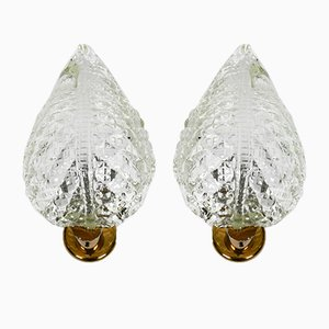 Italian Murano Glass Sconces from Barovier & Toso, 1960s, Set of 2