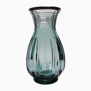 Grand Vase Art Déco Printemps en Cristal par Joseph Simon pour Val Saint Lambert