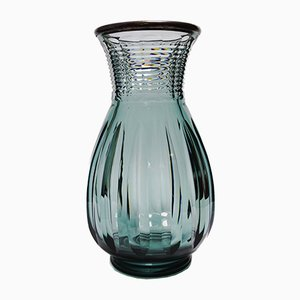 Large Art Deco Printemps Crystal Vase by Joseph Simon for Val Saint Lambert