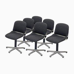 Modell 232 Bürostühle von Wilhelm Ritz für Wilkhahn, 1970er, 6er Set