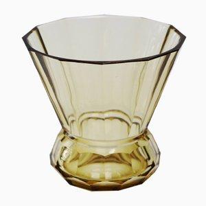 Art Deco Arcadie Topaze Kristallglas Vase von Val Saint Lambert