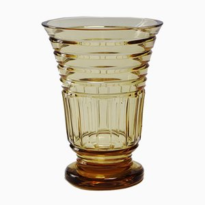Art Deco Topaze Crystal Vase from Val Saint Lambert