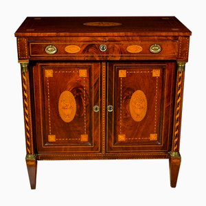 Neoclassical Louis XVI Walnut Sideboard with Inlay, 1840s