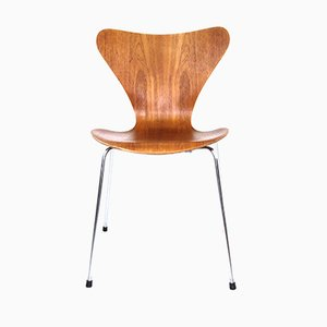 Vintage Model 3107 Teak Chair by Arne Jacobsen for Fritz Hansen