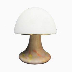 Lampe Mushroom Vintage en Verre par Glashütte Limburg
