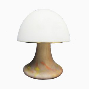 Vintage Glass Mushroom Lamp from Glashütte Limburg