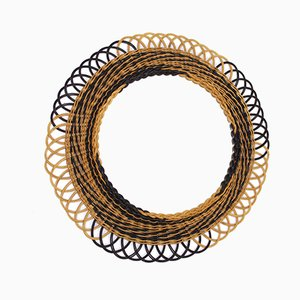 Round Braided Bondotrohr Mirror, 1960s