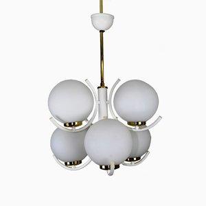 Lámpara de araña de latón de Rupert Nikoll, años 60