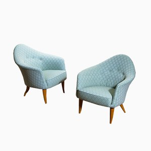 Little Adam Easy Chairs by Kerstin Hörlin-Holmquist for Nordiska Kompaniet, 1950s, Set of 2