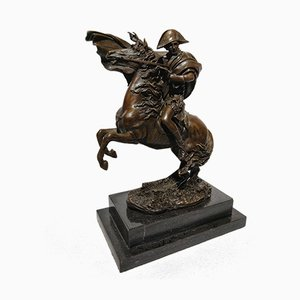 Art Deco Napoleon and Marengo Plum Bronze Sculpture by Pierre-Claude Gautherot for J. B. Deposee, 1960s