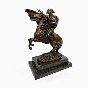 Statuina Art Déco di Napoleone in bronzo di Pierre-Claude Gautherot per J.B. Deposee, anni '60