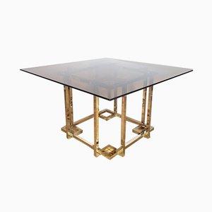 Mesa de comedor vintage dorada, años 70
