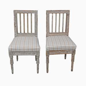 Gustavian Lindome Chairs by Ephraim Stahl, 1795, Set of 2