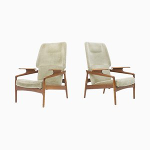 Danish Lounge Chairs by John Boné, 1960s, Set of 2