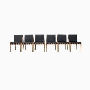 SE 121 Oak Dining Chairs by Egon Eiermann for Wilde+Spieth, 1960s, Set of 6