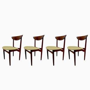 Vintage Esszimmerstühle aus Palisander von Kurt Østervig für KP Møbler, 1950er, 4er Set