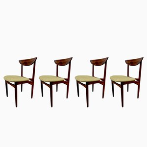 Vintage Rosewood Dining Chairs by Kurt Østervig for KP Møbler, 1950s, Set of 4