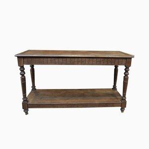 Tavolo antico in quercia, inizio XX secolo