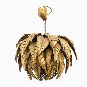 Lámpara de araña francesa vintage en forma de palmera de Maison Jansen