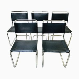 S33 Dining Chairs by Mart Stam & Marcel Breuer for Thonet, 1960s, Set of 5