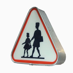 Luminous Metal Road Sign, 1970s