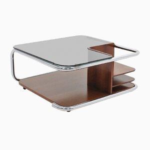 Tavolino da caffè girevole vintage con mobile bar, Italia, anni '70