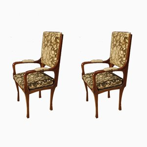 French Art Nouveau Style Armchairs, 1920s, Set of 2