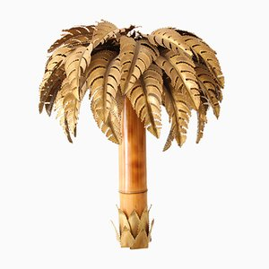 Vintage French Palm Tree Sconce from Maison Jansen