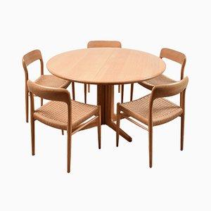 Set da pranzo di Niels O. Møller per J.L. Møllers, anni '50