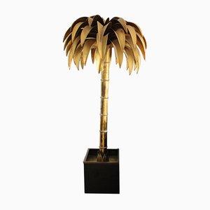 Vintage Stehlampe in Palmen-Optik von Maison Jansen