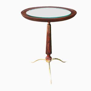 Kleiner Vintage Tisch mit verspiegelter Tischplatte