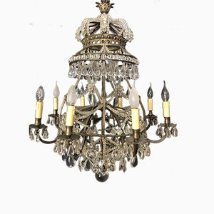 Lampadario Crown vintage, anni '20